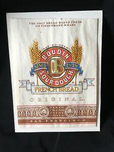 VTG Boudin Sourdough Bread, San Francisco PAPER BAG BAKERY ADVERTISING WHARF