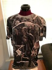 NWT NEW The Walking Dead Walkers Cut Out Shapes Mens Dye Sublimated T-Shirt SZ M
