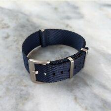 Premium French Nylon Tudor Style NATO Watch Strap 22mm - Navy