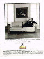PUBLICITE ADVERTISING 124  1996  HUGUES CHEVALIER  Canapé CHARLESTON P. ARDITI