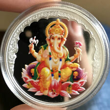 20 Grams 999.9 Silver Mmtc Pamp ganesha color coin