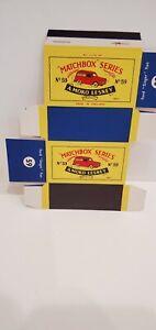 "RARE MATCHBOX LESNEY REGULAR WHEELS #59a FORD ""SINGER"" VAN Box Only MINT 1958"