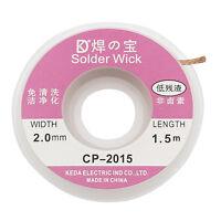 Cn _ Eg _5 M 1.5m 2.0mm Cuivre Tresse à Dessouder Souder Retire Mèche Câble