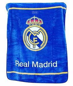 "Real Madrid Luxury Plush Throw Blanket Size 50""x60"""