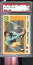 1955 Topps All American #87 Adolph Schulz Germany NM PSA 7 Graded Football Card