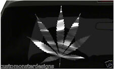 Marijuana Pot Weed sticker All size regular Chrome Mirror Vinyl Colors