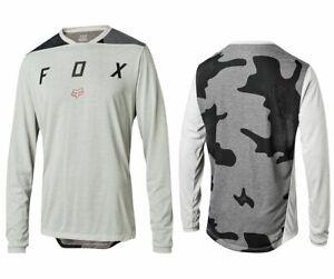 FOX Mens Size L Indicator Long Sleeved Cycling MTB Mountain Bike Jersey Top Camo