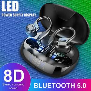 Bluetooth 5.0 TWS Headset Wireless Earbuds Stereo Earphones Headphones Ear Hook