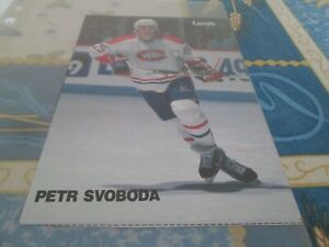 MONTREAL CANADIENS POSTER  COLOR 5 BY 8 PETER SVOBODA  BY DENIS BRODEUR