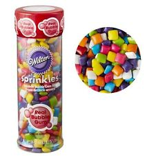 Rainbow Bubble Gum Bites Sprinkles 4.2 oz from Wilton #5548 - NEW