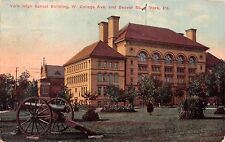 York Pa High School Building~College Ave & Beaver St~Cannon Postcard 1910s