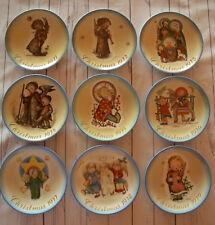 Set of 9 Sister Berta Hummel Christmas Plates 1971 - 1979 1972 1973 1974 1975 +