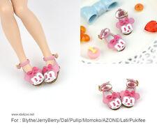 Minnie shoes_PINK for Blythe / DAL / Pullip / Momoko/ Lati_y/Pukifee