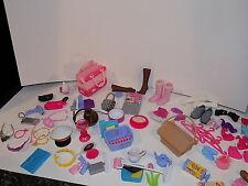 LOT BARBIE Doll  Hangers   laundry  cat food shoes large lot acceessories