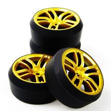 4Pcs HSP HPI Racing 1:10 RC On-Road Drift Tire Wheel Rim Set 12mm Hex GTG+PP0370