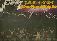 GARY TOMS EMPIRE LP ALBUM 7 6 5 4 3 2 1 BLOW YOUR WHISTLE