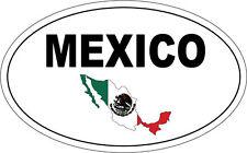 Bandera De México Oval Sat Mexicano en país México palabra pegatina de vinilo - 20cm X 12cm
