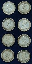 AUSTRALIA GEORGE V  1911   1 SHILLING SILVER COINS  (8)