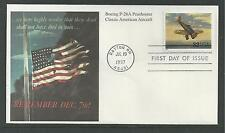 "# 3142-o CLASSIC AMERICAN AIRCRAFT: Peashooter 1997 ""Mystic"" First Day Cover"