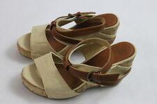 Women's Coconuts Tan/Brown Summer Cork Platform Strappy Wedges Sandals Heels 6 M