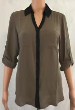 NWT  Express Women's Portofino Shirt, Long convertible sleeves, Original Fit, M
