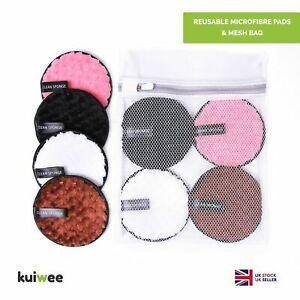 Washable Reusable Makeup Remover Pads Face Cleansing Microfibre Laundry Mesh Bag