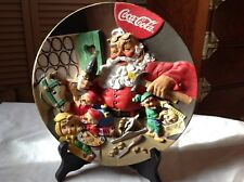 Coca Cola Santa's Workshop 3D Plate Limited Edition Hand Crafted( Franklin Mint)