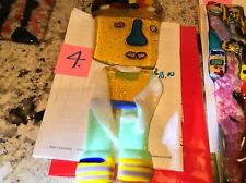 ART GLASS ABSTRACT,s FACE  Sell By The Pc. Or Buy All  Made By Owner Of E Bay..