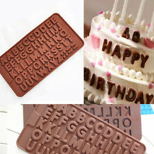 Double Alphabet Silicone Mold Fondant Mat For Candy/Chocolate/Cake Decor Tools
