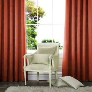Spice  Terracotta Red Tab Top Curtains  100%Cotton