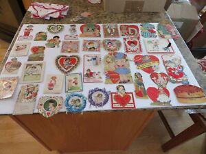 Lot of 36 VTG./ANT. Paper Valentines