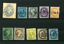 Canada NEWFOUNDLAND  Good set Old clasic stamps VF used (12)