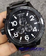 Genuine New Nixon 51-30 Chrono All Black Watch A083-001 A083001 gift men.