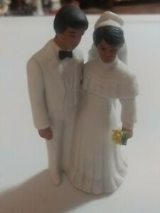 Ceramic Brown Couple Cake Topper by Enesco