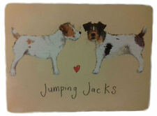 Jumping Jacks Corked Backed Placemat, Jack Russel Terrier, Dogs, Tableware MT02