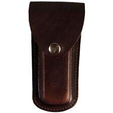 Etui marron cuir uni ceinture pour couteaux poche Biker caso cuchillo knife moto