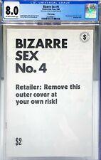 BIZARRE SEX #4 CGC 8.0 : WHITE OUTER COVER 9.0 / INTERIOR BOOK 8.0 : 1984 FIFTH