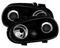 BLACK PROJECTOR HEADLIGHTS HEADLAMPS FOR VW GOLF 4 MK4 MK 4 IV