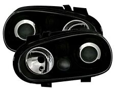 BLACK PROJECTOR HEADLIGHTS HEADLAMPS FOR VW GOLF 4 MK4 MK 4 IV