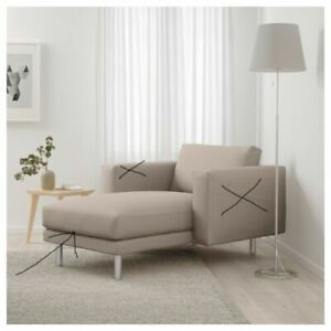 IKEA Norsborg Chaise Longue Replacement Cover Only Grasbo Beige 403.826.53