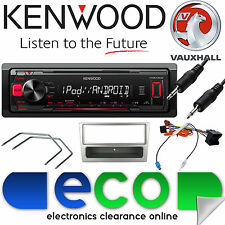 VAUXHALL Corsa C KENWOOD Radio Stereo Auto Mechless mp3 Kit Lettore AUX argento