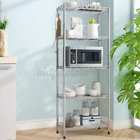 US 5-layers Metal Kitchen Rack Holder Storage Shelf Organizer Net Hook PP Mat ┞