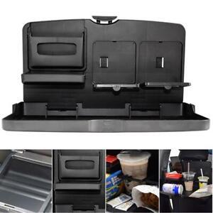 Universal Black Car food tray folding dining table drink holder car pallet