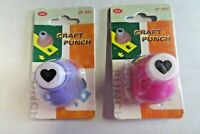 2 heart Paper Shape Craft Punches UK STOCKIST