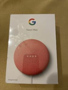 Google Nest Mini ( 2nd Gen ) Smart Speaker - Pink NEW SEALED - GA01141-US