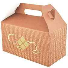 Box Container Kraft Paper Paperboard Tray 125 Carry Boxes Food Lunch Bakery Lot