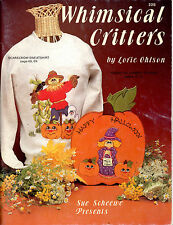 Whimsical Critters Wood Crafts Patterns Clock Apron Sweatshirt Painting Book