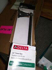 """Delta Faucet 70024-OB Windemere 24"""" Towel Bar, Delta Oil Rubbed Bronze"""
