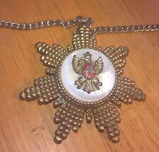 "19"" Brass Type necklace w/Star like Pendant"