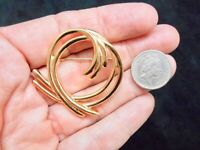 Authentic Vintage Gold Tone Crown Trifari Swirl Brooch/Pin